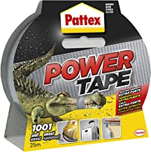 Pattex Powertape, extra sterke pantserband, zwart plakband voor bijna alle oppervlakken, 48 mm x 25 m
