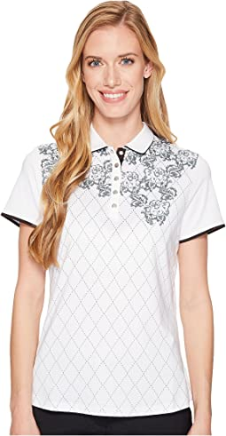 Lace Argyle Printed Polo