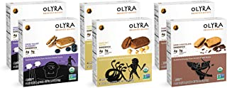Olyra Organic Sandwich Breakfast Biscuits, Multi Pack, Box of 4 individual 1.32 Ounce Biscuit Packs (Pack of 6 boxes)