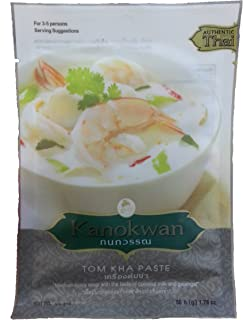 Tom Kha Curry Paste Thai Authentic Herbal Food Net Wt 50 G (1.76 Oz.) Kanokwan Brand X 3 Bags