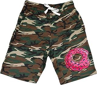 Interstate Apparel Men's Pink Donut Camo Fleece Jogger Sweatpant Gym Shorts