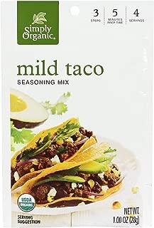 Simply Organic Mix, Mild Taco Organic Seasoning, 1 Ounce (Pack of 12)
