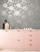 Milan Fiorella Taupe Wallpaper