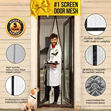Lazy Monk Magnetic Screen Door with Magnet Closure I Doorway Mosquito Net Bug Mesh | Pet Friendly Patio Insect Screen Curtain Cover I Upgraded 2019 Version up to 39