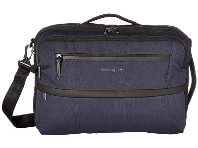Hedgren 15.6 Focused Three-Way RFID Briefcase (Dark Blue) Handbags