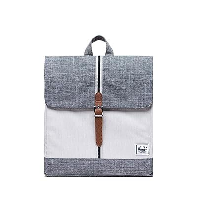Herschel Supply Co. City Mid-Volume (Raven Crosshatch/Vapor Crosshatch/Tan) Backpack Bags