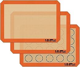 MMmat Silicone Baking Mats - Best German Silicone - Macaron Baking Mat, Set of 3