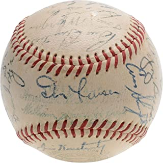 1955 New York Yankees Team Signed Baseball with Multiple Signatures - PSA/DNA Certified - Autographed Baseballs