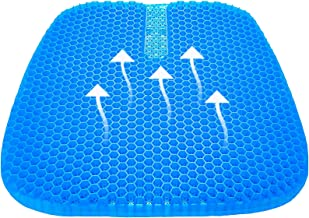 Tomight Gel Seat Cushion, Cool Gel Cushion, Breathable Lumbar Support Chair Cushion Tailbone Back Pain Relief Chair Pad wi...