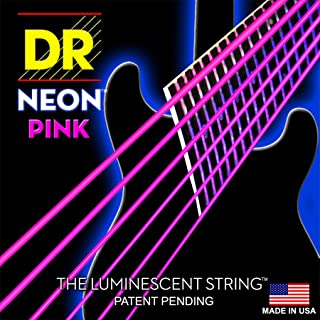 DR NEON NPE- 9 E/46 HiDef cuerdas Lite construcción de rosa