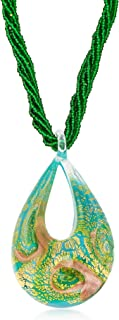 Italian Murano Glass 6-Strand Bead Necklace in 18kt Gold Over Sterling