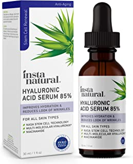 Hyaluronic Acid 85% Face Serum - Natural Anti Aging Formula for Fine Lines & Wrinkles to Hydrate, Moisturize & Plump Dull,...