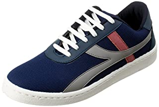 Salerno Textile Side Stripe Lace-up Sneakers for Men