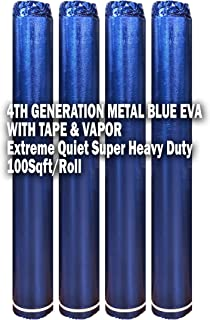400SQFT AMERIQUE 4TH Generation High-Density Luxury Metal Blue 2.5MM Thick EVA Foam Flooring Underlayment Padding with Tape & Vapor Barrier, Elasticized Closed-Cell Technology