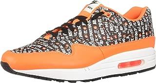 Mens Air Max 1 Premium Fashion Sneaker (Just Do It) (10 M US, Black/Total Orange-White)