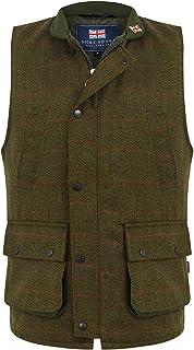 Nicky Adams Countrywear Men's Derby Tweed Waistcoat Gilet Waterproof Breathable Hunting Shooting Lined