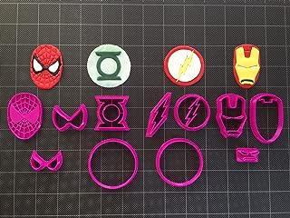 Super Hero (Set B) Fondant Cutters / Cookie Topper (2in)