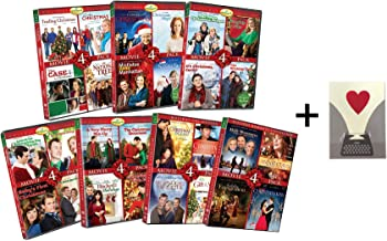 Hallmark Holiday Romance 28 Movie Collection DVD Set - Trading Christmas / A Very Merry Mix-Up / Christmas Kiss / Naughty or Nice / Most Wonderful Time of Year & More! with Official Card