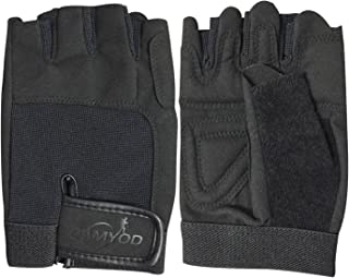 CAMYOD Fingerless Bike Gloves, Shock-Absorbing Half Finger Cycling Gloves, Mountain Bike Gloves with Anti-Slippery Palm Patch for Men and Women