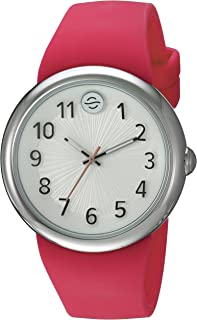 Philip Stein ' Japanese Quartz Stainless Steel and Silicone Watch, Color:Pink (Model: F36S-SW-HP)