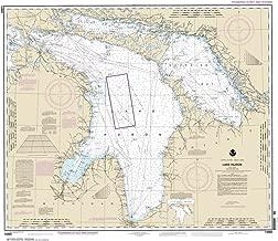 Paradise Cay Publications NOAA Chart 14860: Lake Huron 33.6 x 38.8 (TRADITIONAL PAPER)
