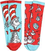 Dr. Seuss Socks Kids Cat In The Hat and Fish Crew Socks 2 Pair