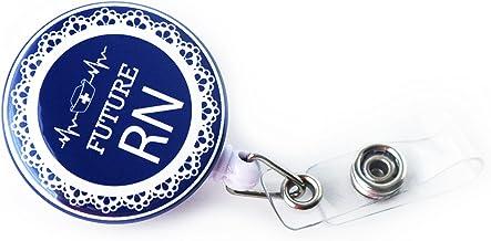 Future RN | Nurse Intern | Student Nurse Retractable Badge Holder (Navy_NBSO)