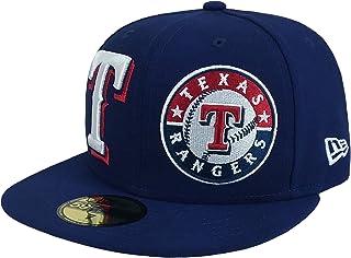 hot sales 9e7e3 e0fa9 New Era 59Fifty Hat MLB Texas Rangers Heritage Patch d Up Dark Royal Blue  Cap