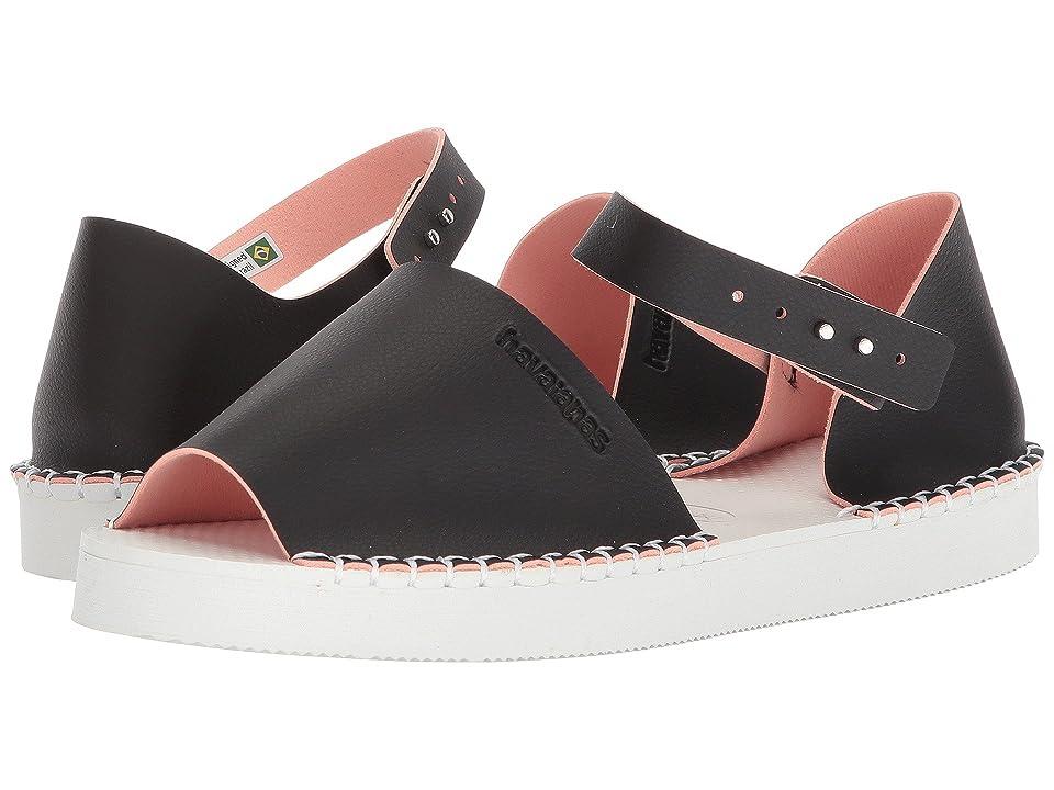 Havaianas Flatform Fashion Espadrille (Black/Pink) Women