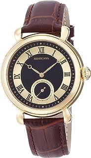 [ブルッキアーナ]BROOKIANA オリジン スモールセコンド 自動巻き ゴールド×ブラウンレザー BA2604-BKGPBR メンズ 腕時計
