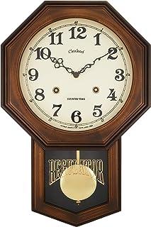 さんてる アンティーク電波振り子時計(8角型) ブラウン 5939an DQL624