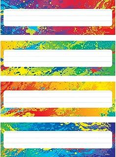 TREND enterprises, Inc. Splashy Colors Desk Toppers Name Plates VAR. Pk., 32 ct