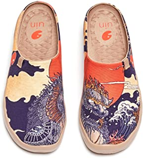 Sponsored Ad - UIN Men's Slipper Loafers Lightweight Comfort Mules Walking Casual Household Slip Ons Art Painted Travel Shoes