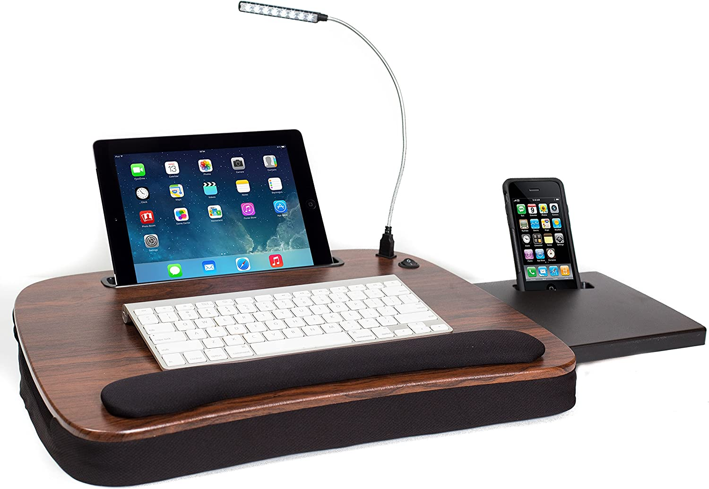 Sofia + Sam Multi Tasking Memory Foam Lap Desk USB W with Dallas Max 46% OFF Mall Light