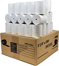 """3 - 1/8 """"(80 mm) X 230 '(2.75"""" dia.) 15٪ PAPER (50 ROLLS) ثبت نام نقدی مقاله حرارتی BPA Free ساخته شده در ایالات متحده آمریکا از BuyRegisterRolls"""