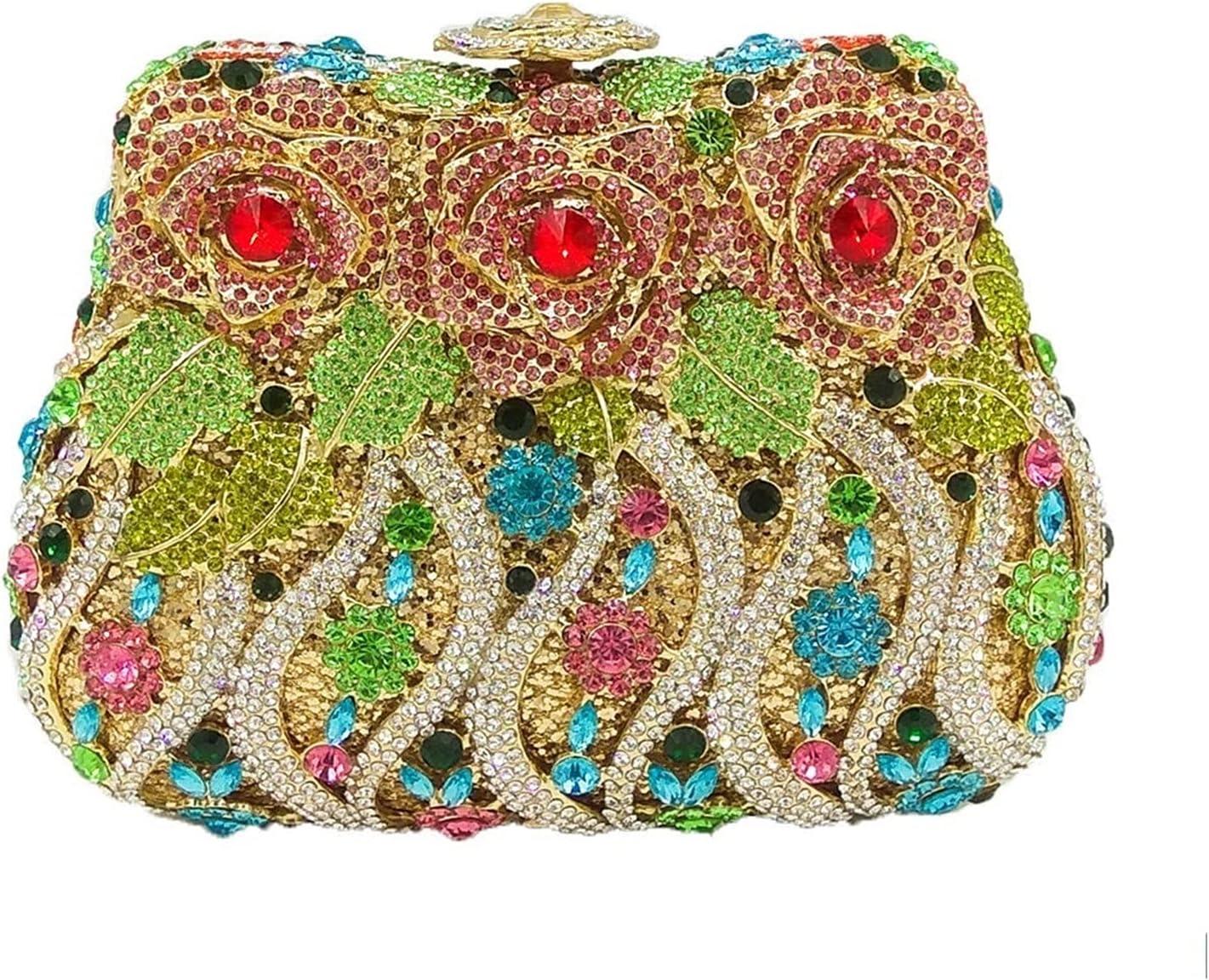 A+TTXH+L Evening Bag Women Crystal Purse Evening Clutch Bag Bridal Diamond Clutch Wedding Party Minaudiere (Color : A, Size : 1)