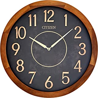 Citizen Clocks Citizen CC2052 Outdoor Wall Clock, Dark Brown