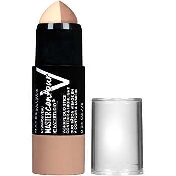 Maybelline New York Makeup Facestudio Master Contour V-Shape Duo Stick, Light Shade Contour Stick, 0.24 oz