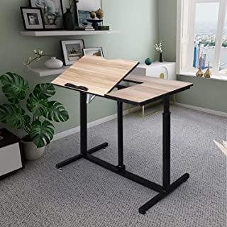 Multifunction Tiltable Drawing Desk Height Adjustable Office Desk Writing Table Craft Drafting Table Office Computer Desk Home Workstation