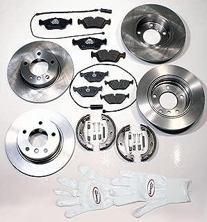 Autoparts-Online Set 60015904 Bremsscheiben bel/üftet Bremsen Bremsbel/äge Warnkontakte vorne hinten Handbremse Zubeh/ör f/ür hinten