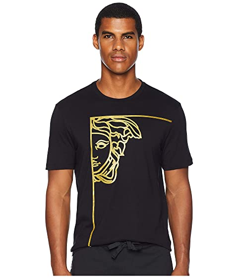 Versace Collection Gold Half Medusa Tee