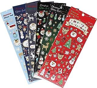 Naler 6 Feuilles Noël Autocollants Fenetre NoëL Décoration Stickers Brillant DIY Enfant Amusant