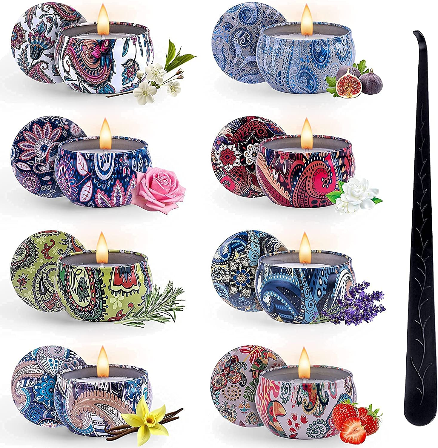 VAZILLIO Scented Candles Gift Set 8 Pack Candl Women SALENEW very popular for Very popular!