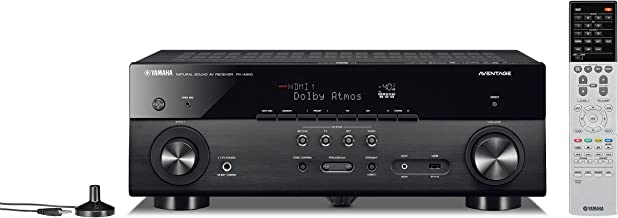 Yamaha AVENTAGE RX-A680 7.2-ch 4K Ultra HD AV Receiver with HDR, Dolby Vision, Dolby Atmos, Wi-Fi, Phono, and MusicCast - Black