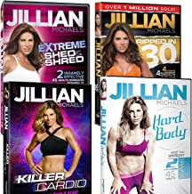 Bundle Packs Jillian Michaels Fitness DVD's Killer Cardio Extreme Shed and Shred Ripped in 30 and Hard Body Pick Your Set
