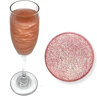 Rose Gold Beer & Beverage Glitter   4 Gram Jar   Edible Food Grade Beer Glitter, Cocktail Glitter & Beverage Glitter from Bakell