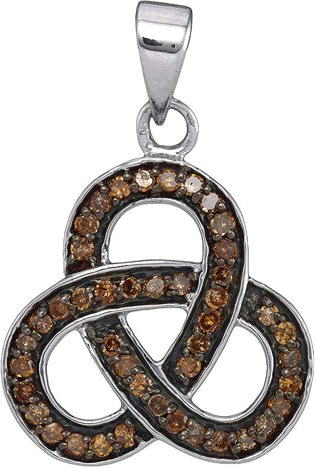 Dazzlingrock Collection 0.25 Ranking TOP11 Carat Ctw All stores are sold Diamond Round Brown Fas