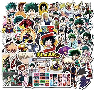50 Pcs Cartoon Anime My Hero College Waterproof Stickers for Laptop Stickers Motorcycle Bicycle Skateboard Luggage Decal Graffiti Patches