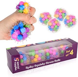 Special Supplies DNA Squish Stress Ball (4-Pack) Squeeze, Color Sensory Toy - Relieve Tension, Stress - Home, Travel and O...