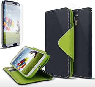Galaxy S4 Case, Cellto Wallet Diary [Slim Ultra Fit] [Navy Green] Cover [ID Pocket] for Galaxy S IV Galaxy SIV i9500